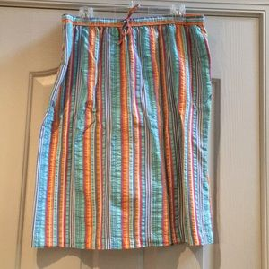 Orvis striped cotton skirt